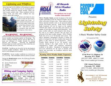 lightning safety pamphlet - Wyoming High School Activities ...