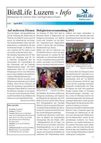 BirdLife Luzern - Info 1/2013 (271KB)