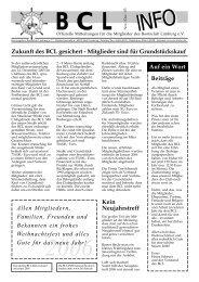 Zukunft des BCL gesichert - Mitglieder sind für Grundstückskauf Auf ...