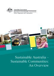 Sustainable Communities: An Overview - Department of the ...