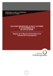 Rapport de la mission d'observation de l'élection présidentielle du ...