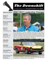 Newsletter 3 - Chicagoland Sports Car Club