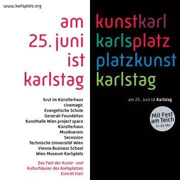 Programm - Karlsplatz