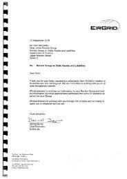 Letter from Dermot Byrne, Chief Executive, Eirgrid, to Review group ...