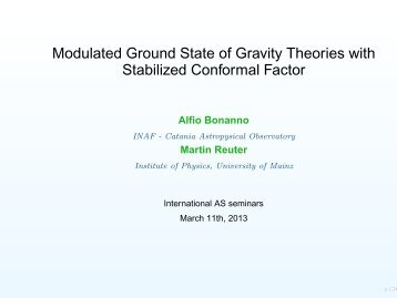 Modulated ground state of gravity theories with stabilized conformal ...