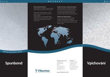 Spunbond Vpichování - Fibertex AS
