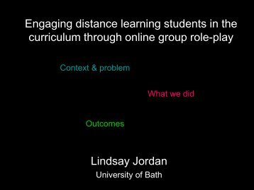 Engaging distance learning students in the curriculum ... - StudyNet
