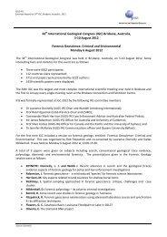 34th International Geological Congress (IGC) Brisbane, Australia, 5 ...