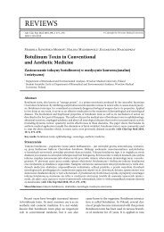Botulinum Toxin in Conventional and Aesthetic Medicine