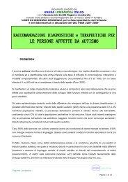linee guida per le persone affette da autismo - ANGSA Lombardia ...