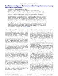 Quantitative investigation of a terahertz artificial magnetic resonance ...