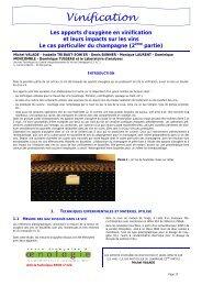 Vinification - Union des oenologues de France