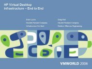 HP Virtual Desktop - VMware