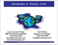 Introduction to Wireless LANs - Laura Jeanne Knapp