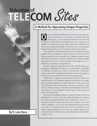 Valuation of Telecommunications Sites A Method for Appraising ...
