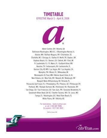 TIMETABLE - Airtran Airways