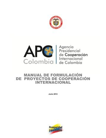manual de formulación de proyectos de cooperación internacional