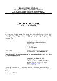ZNALECKÝ POSUDEK číslo: 6448-120/2013 - e-aukce
