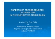 aspects of transboundary cooperation in the euphrates-tigris ... - INBO