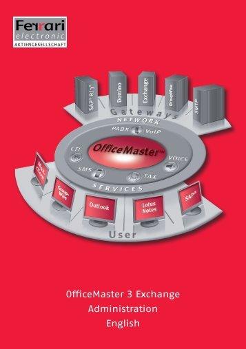 OfficeMaster 3 Exchange Administration English - Ferrari electronic