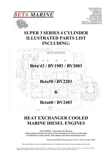 SUPER 3 SERIES 4 CYLINDER ILLUSTRATED PARTS LIST ...