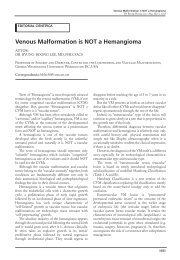Venous Malformation is NOT a Hemangioma