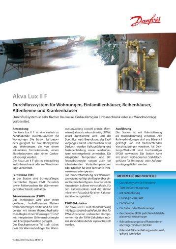 Akva Lux II F - Fernwärme-Komponenten - Danfoss GmbH
