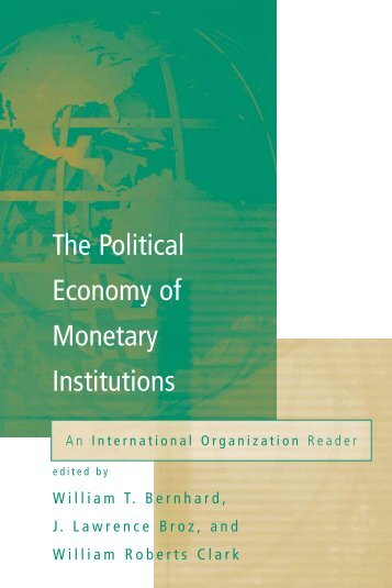 The Political Economy of Monetary Institutions - Arabictrader.com