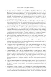 GUIDELINES FOR CONTRIBUTORS 1. All article ... - Hart Publishing