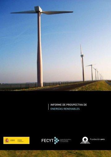 Informe de prospectiva de Energías Renovables - ICONO