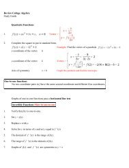 Polynomials & Rational Functions, Inverse Functions