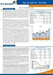 Bản tin Kinh tế - Tài chính - PG Bank