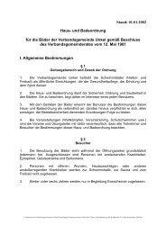 Haus- und Badeordnung - Verbandsgemeindeverwaltung Unkel