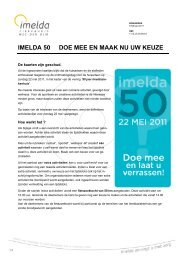 vindt u meer info en een overzicht van de activiteiten - Imelda