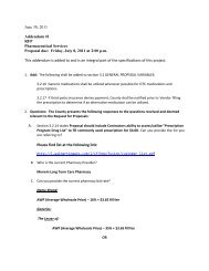 June 30, 2011 Addendum #1 RFP Pharmaceutical ... - Scott County