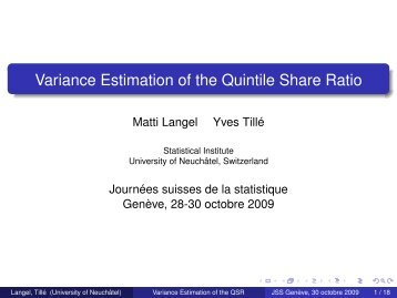 Variance Estimation of the Quintile Share Ratio