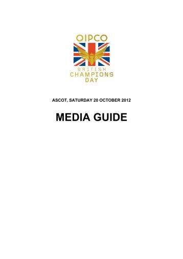QIPCO British Champions Day 2012 Media Guide - Ascot Racecourse