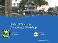 Draft City Council Workshop Presentation - City of Ocala