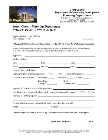 Probation Report Form  English  Grant County