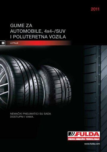 GUME ZA AUTOMOBILE, 4x4-/SUV I POLUTERETNA ... - Cobra Riv