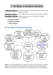 1 The Nature of Analytical Chemistry