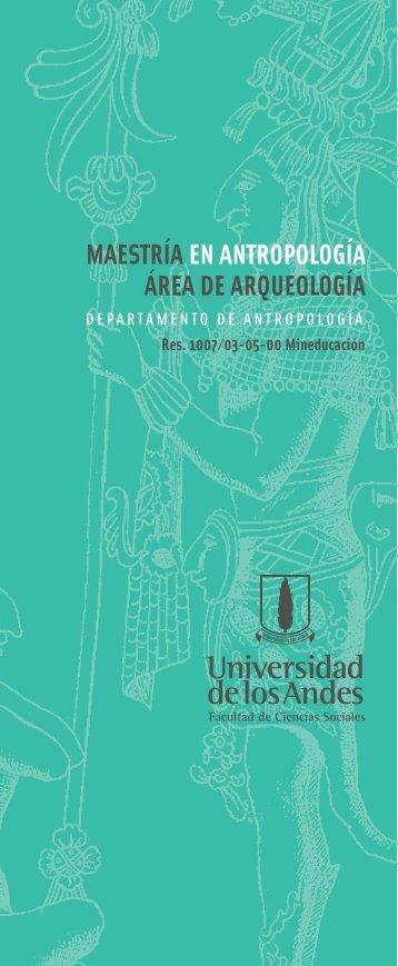 maestría en antropología área de arqueología - Departamento de ...