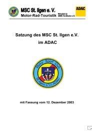 Satzung des MSC St. Ilgen e.V. im ADAC
