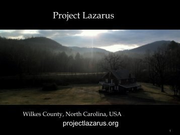 FSMB presentation on Project Lazarus - Federation of State Medical ...
