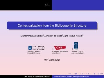 Contextualization from the Bibliographic Structure - it-lab