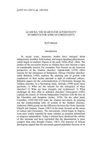 Aladura: Afro Christian Religion