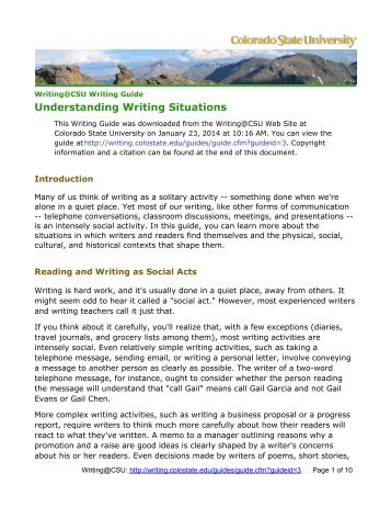 colorado state university personal statement essay Colorado state university a statement of your research samples of personal statement instructions samples of personal statement instructions for schools.