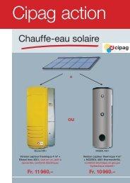 Chauffe-eau solaire - Cipag
