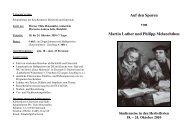 Auf den Spuren von Martin Luther und Philipp Melanchthon