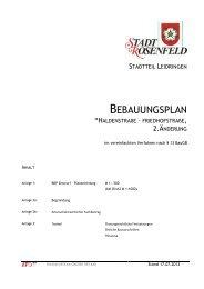 Bebauungsplan 2. Änderung - Rosenfeld